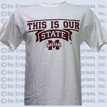 MSU Mississippi State Bulldogs Our State Unisex Bright T Shirt
