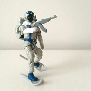 1980s GI Joe Toy - Snow Serpent - Hasbro Action Figure - Cobra Polar Assault Trooper