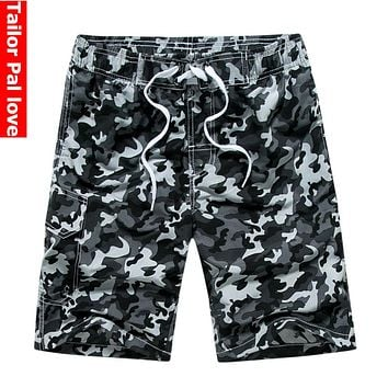Mens Camouflage Board Shorts for Summer Surf Beach Swim Bermuda Style Quick Dry Boardshorts