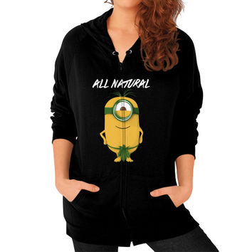 ALL NATURAL MINION Zip Hoodie (on woman)