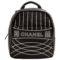 Cloth backpack CHANEL Black