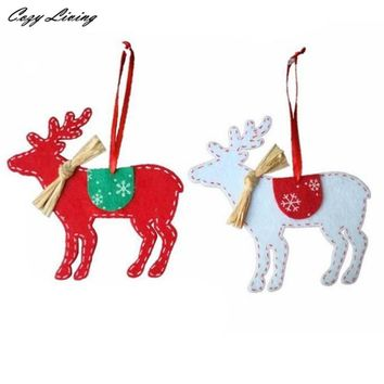 2PCS Christmas Tree Deer Hanging Ornaments