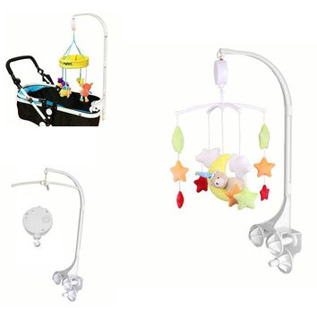 3 Styles Music Box Projecting Toys Baby Crib Huanger Mobile Bed Bell Toy Holder Bracket Wind-up Baby Toys Rattles Bracket Set