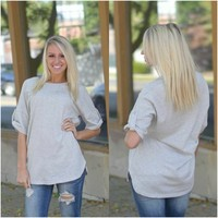 Live Free Tunic (Grey) - Piace Boutique