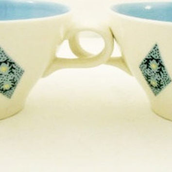 With Our Blue Diamonds: 1950s Cups By Ben Seibel For Iroquois China