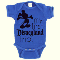 Mickey Mouse  Disneyland  Baby Boy  My by DearlyLovedBoutique