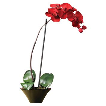 Artificial Flowers -Holiday Phalaenopsis Orchid Arrangement