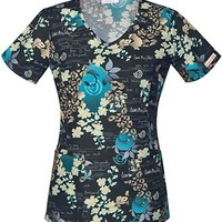 Buy Cherokee Women's V-neck Printed Scrub Top for $18.95