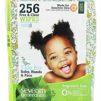Seventh Generation: Baby Free And Clear Wipes Refill, 256 Wipes