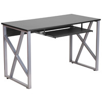 Flash Furniture Black Computer Desk with Pull-Out Keyboard Tray [NAN-WK-004-GG]