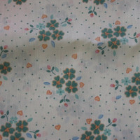 Vintage Fabric Four Leaf Clover & Hearts - 2 YARDS 22 INCHES