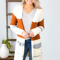 Certain About This Multi Stripe Cardigan