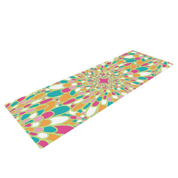 "Miranda Mol ""Flourishing Green"" Green Multicolor Yoga Mat"
