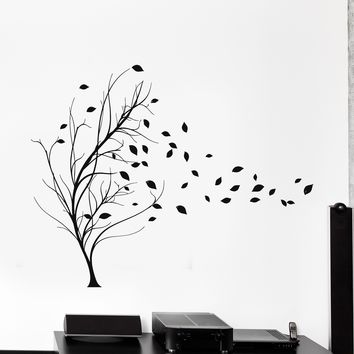 Vinyl Wall Decal Tree Leaves House Interior Room Stickers Unique Gift (ig4230)