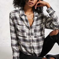 High-Low Flannel Shirt