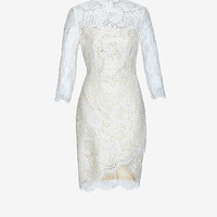 LOVER ASYMMETRIC LACE DRESS: WHITE