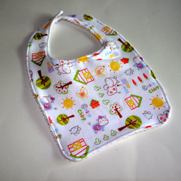 Farm baby bib, Farm animals baby bib, Old McDonald Had a farm baby bib, Old McDonald's Farm bib, Farmer baby bib, Baby Farm animals bib