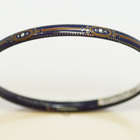 Austrian Modernist Michaela Frey Enamel Bangle Bracelet