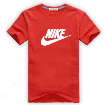 DCCK6HW Nike' Unisex Simple Casual Classic Letter Print Round Neck Short Sleeve Couple Cotton T-shirt