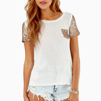 Embellish Me Pocket T-Shirt - TOBI