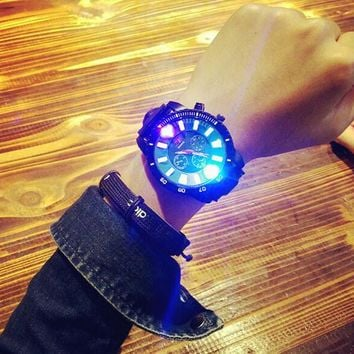 casual sports light up silicone strap watch lover watches gift box 465  number 1