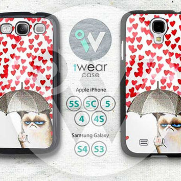 Cat Samsung Galaxy S3 S4 Case,cats heart Love Galaxy S3 S4 Hard Case,Cut art Cat cover skin Case for Galaxy S3 S4,More styles for you choose