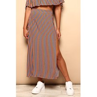 Line Up Slit Maxi Skirt