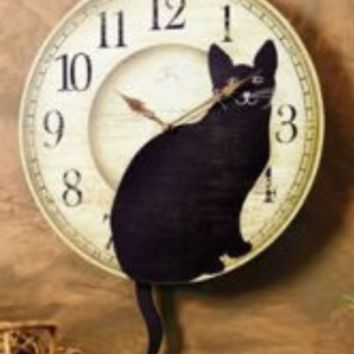 Wagging Tail Cat Clock