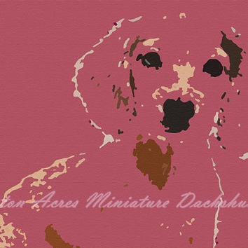 Dachshund Print Photography - Pink Wall Art by AstonAcresDachshunds