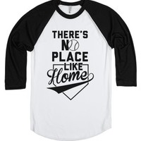 There's No Place Like Home-Unisex White/Black T-Shirt