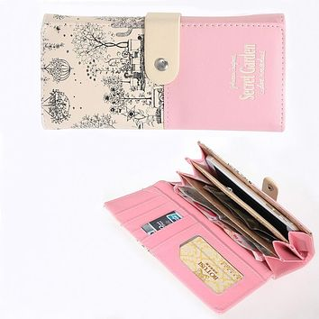 Brand PU Leather Wallet Female Long Cion Wallet women Landscape Pattern Purse High quality