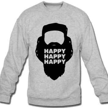 HAPPY HAPPY HAPPY  Sweatshirt Crew Neck
