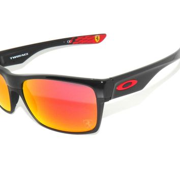 OAKLEY SunglasseS TWOFACE 9189-36 BLACK/RUBY IRIDIUM *FERRARI COLLECTION*