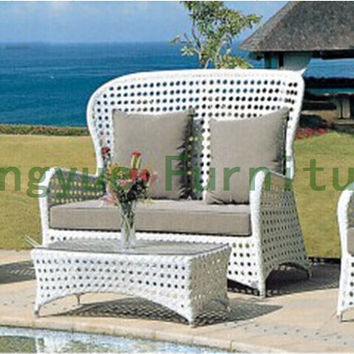 HIgh back garden rattan sofa set
