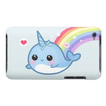 Cute baby narwhal and rainbow iPod touch case from Zazzle.com