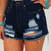 Safe With Me Shorts: Denim