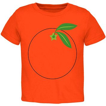Halloween Fruit Orange Costume Toddler T Shirt