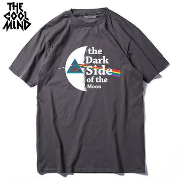 100% Cotton casual loose knitted Pink Floyd The Wall Printed men T Shirt