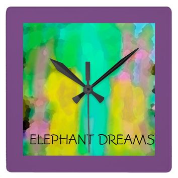 Elephant Dreams Wall Clock