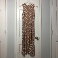 Authentic Vintage 80's women's Pretty Woman polka dots dress sz 8