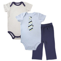 Luvable Friends Boys 2 Bodysuit and Pants Set | Affordable Infant Clothing