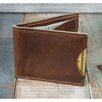 3-Slot Front Pocket Card Sleeve Wallet - 21st Amendment (Horween Cavalier Leather)