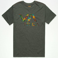 Rvca Jungle Va Mens T-Shirt Heather Black  In Sizes