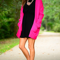 Totally Free Cardigan, Fuchsia