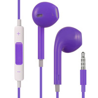 DW Premium HQ Earbud Handsfree Headset 3.5mm Earphones - Purple