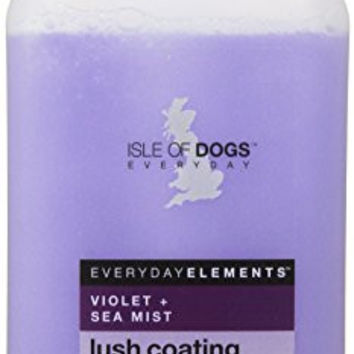 Everyday Isle of Dogs Lush Coating Dog Shampoo,Violet + Sea Mist for Poodles, Shepherds and Retrievers, 16.9oz