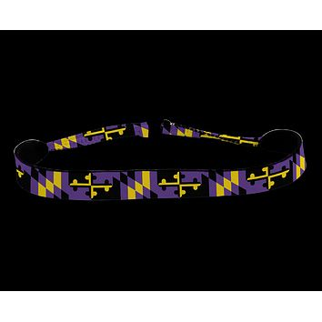 Purple & Gold Maryland Flag / Neoprene Croakie