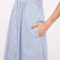Kimchi Blue Plunging Button-Down Midi Dress - Urban Outfitters