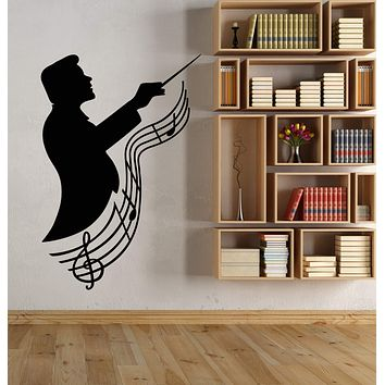 Vinyl Wall Decal Composer Music School Notes Stickers (3109ig)