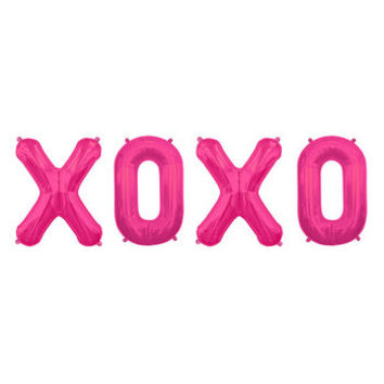 Xoxo Balloon Set In Gold, Silver Or Pink